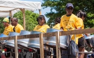 Carafiesta parade steel drum band