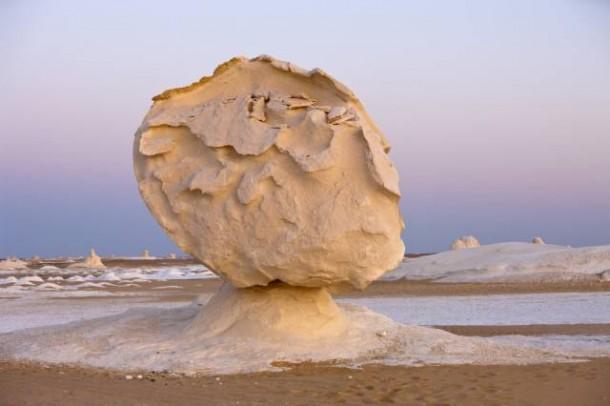 Twighlight in White Desert National Park, Libyan Desert, Egypt
