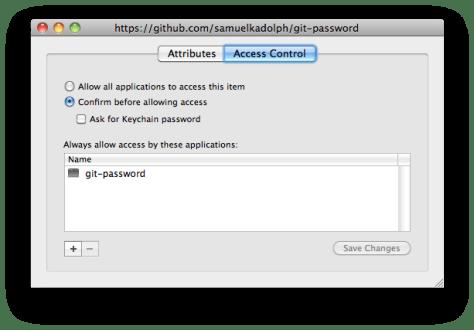 Mac OS X Keychain Item Access Control