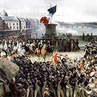 De tre fälten i Frankrikes flagga står sedan revolutionen för Frihet, Jämlikhet och Brödraskap.