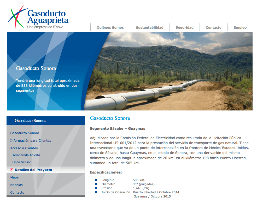 Gasoducto Sonora: Santa Claus and natural gas from fracking is coming to town!