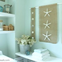 diy Wall Art (coastal burlap craft)