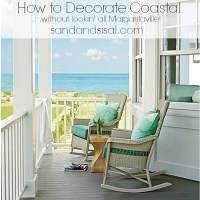 How to Decorate Coastal (without lookin' all Margaritaville!)
