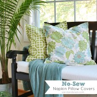 No Sew Napkin Pillow Covers