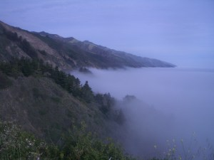 Coastal fog along California's Pacific Coast Highway. Credit: Sandeep Ravindran