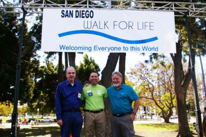 Co-Chairmen Hugh Largey, Scott Maxwell, and Kent Peters -- Photo Credit: Denis Grasska, Asst. Editor, The Southern Cross