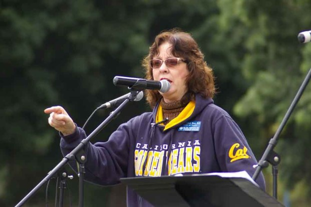 Dr. Jennifer Roback Morse, stresses a point during her talk at the San Diego Walk For Life