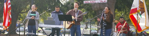 Music provided by Emmaus Boulevard, a Christian praise and worship band from San Diego, CA.