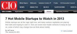 CIO-Startups to Watch
