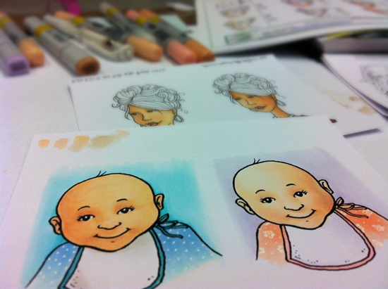 Sandy Allnock - age coloring