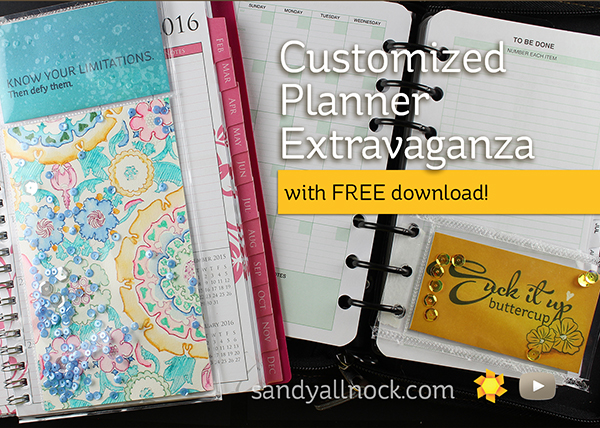 Sandy Allnock Customized Planner