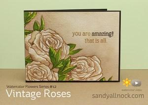 Sandy Allnock Watercolor Vintage Roses