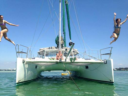 Fun in the Sun on Kathleen D Sailing Catamaran