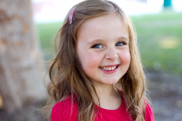 Toddler headshot natural smile