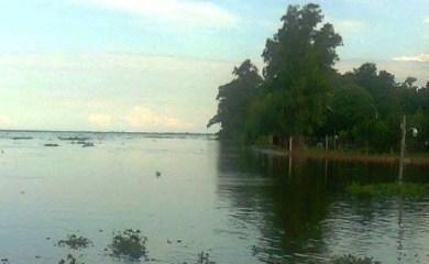 Suspendieron la fiesta de La Boca de Monje por la crecida del río