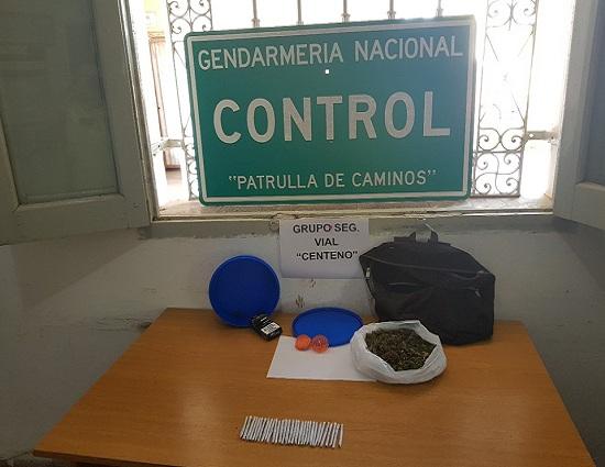 Centeno: Evadió control de Gendarmeria y llevaba marihuana