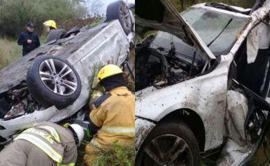 Un muerto tras el despiste y vuelco de un auto en la autopista a Santa Fe