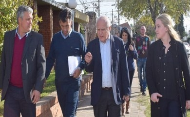 Lifschitz visitó San Genaro y recorrió obras junto a autoridades
