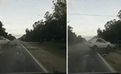 Un taxista ebrio atropelló y mató a su propio primo en una ruta: el video