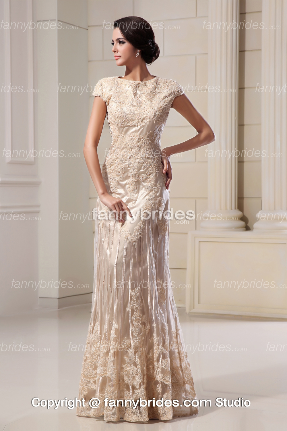 wedding dresses with colored embellishments short ivory wedding dresses Wedding Dresses With Colored Embellishments 85