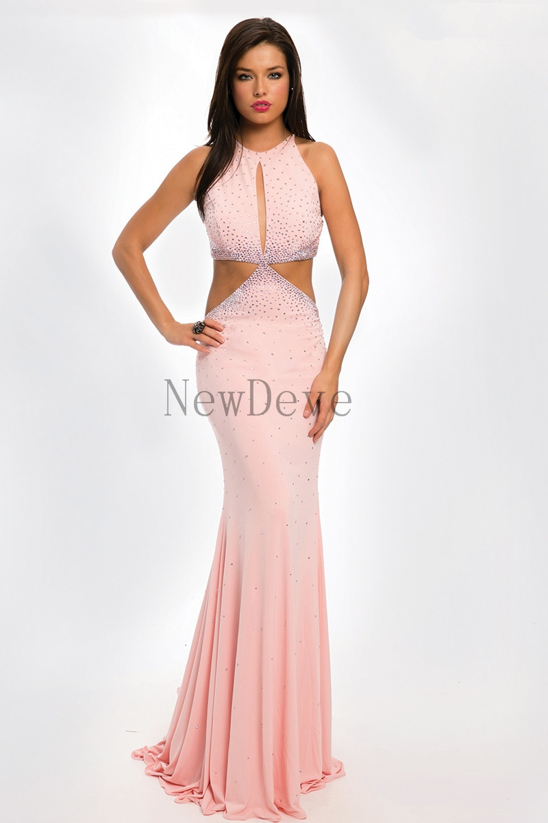 Light pink colored dress