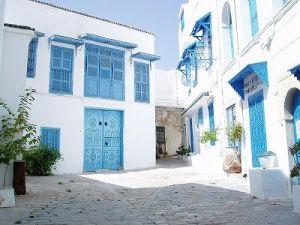 青と白のコントラストがとても素敵な地