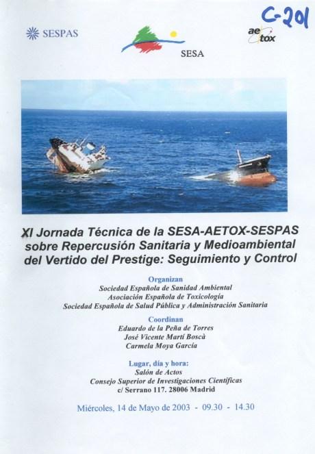 XI Jornada Técnica SESA-AETOX-SESPAS