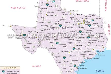 Map Of Texas By City - Tx city map