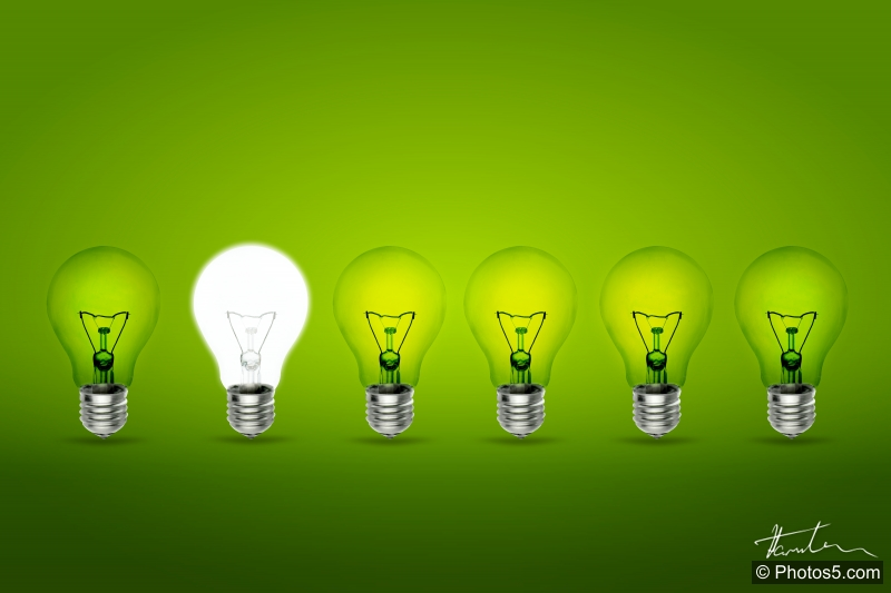 Light_Bulbs_on_Green_Background