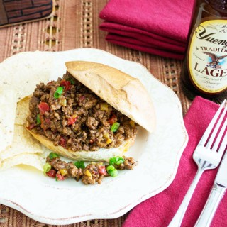 Classic American Sloppy Joes ~ Tangy chili sauce mixed with ground beef and served on buns.