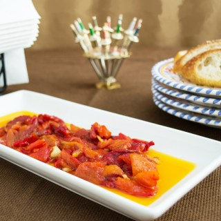 Spanish Style Roasted Red Peppers ~ A key ingredient in many Spanish dishes and sublime on its own as one of the simplest Spanish tapas.