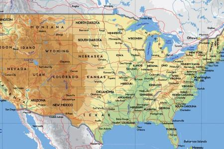 united states map geography worksheet | free images usa map