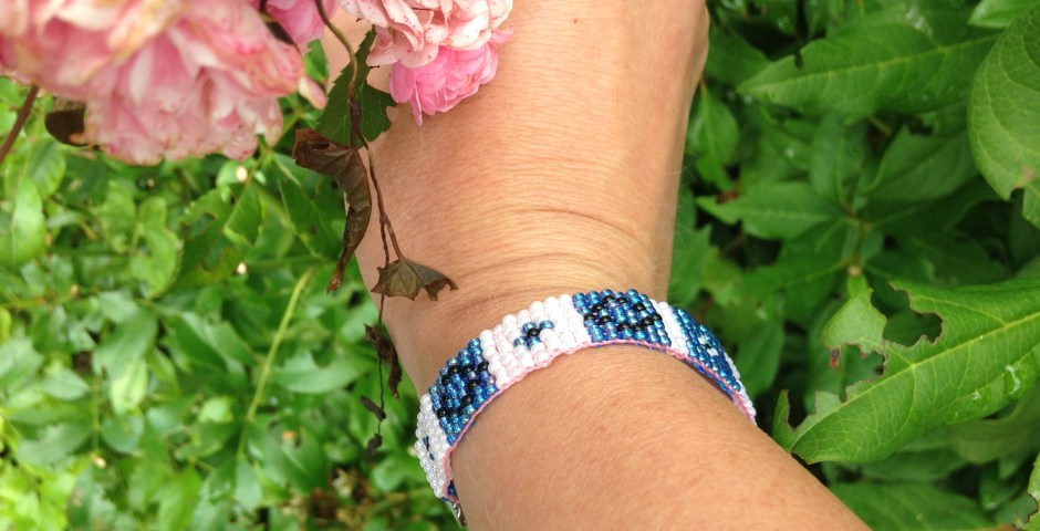 beads armbandje blue