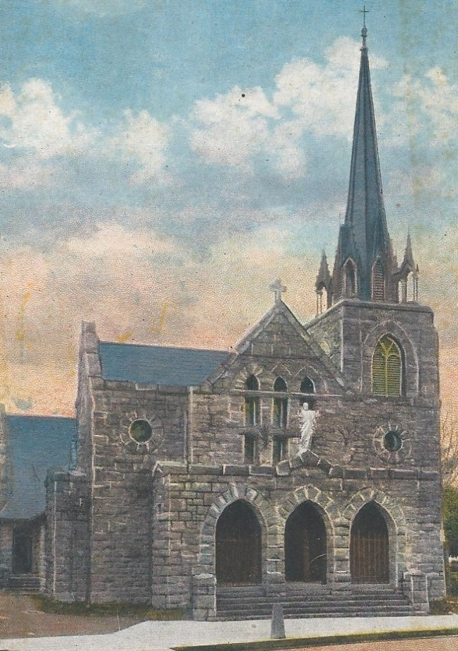 Undated postcard of St. Rose church (courtesy Denise Hill)