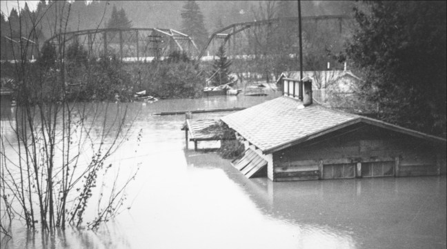Guerneville during the 1937 flood. Photo courtesy Sonoma County Library