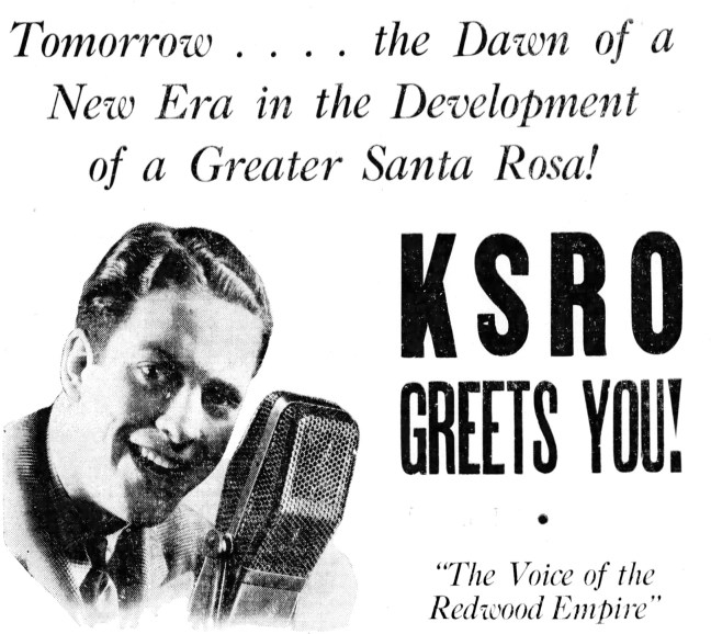 """KSRO Greets You"". Santa Rosa Republican, September 18, 1937"