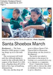 Record_Roodepoort_22 September_Santa Shoebox