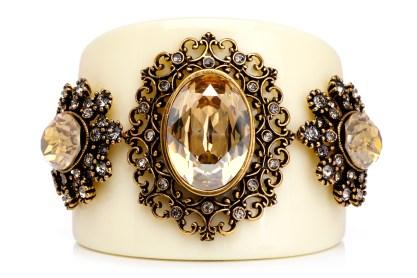 Nádia Gimenes - bracelete paris resina marfim golden shadow