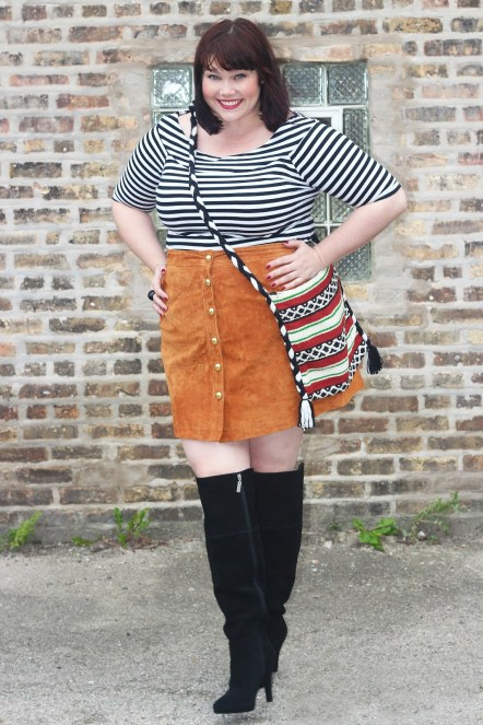 Plus-Size-Blogger-Amber-Plus-Size-Suede-Skirt