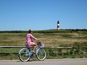 Riding my bike in Nantucket