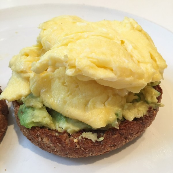 egg avocado ezekial english muffin