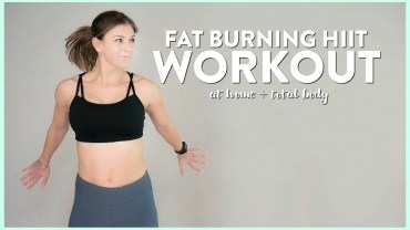 Fat Burning HIIT Workout at Home YouTube Video