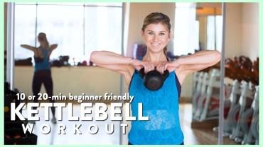 Fat Burning 10 or 20-min Kettlebell Workout, Beginner Friendly