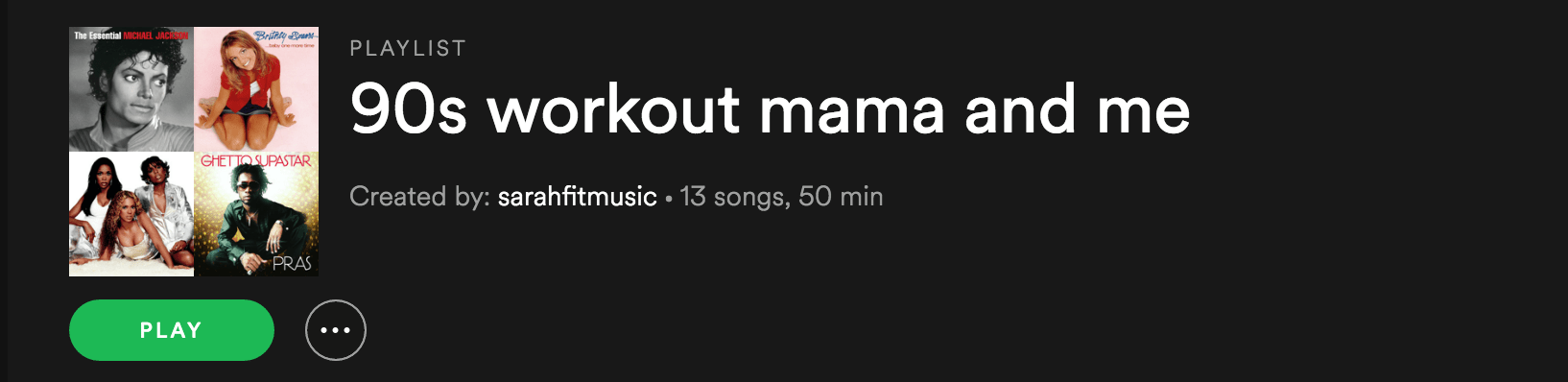 My Favorite 90's Workout Playlist