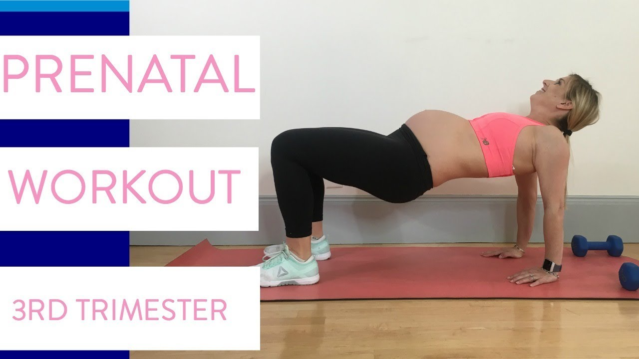 Third Trimester At Home Workout | Prenatal Exercises Safe for 3rd Trimester