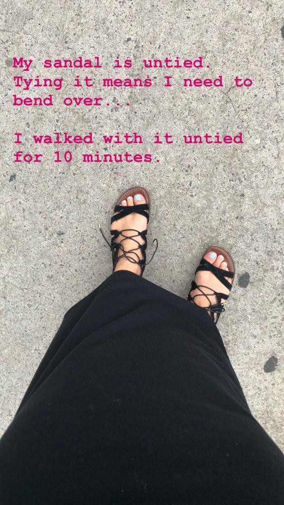 sandals untied