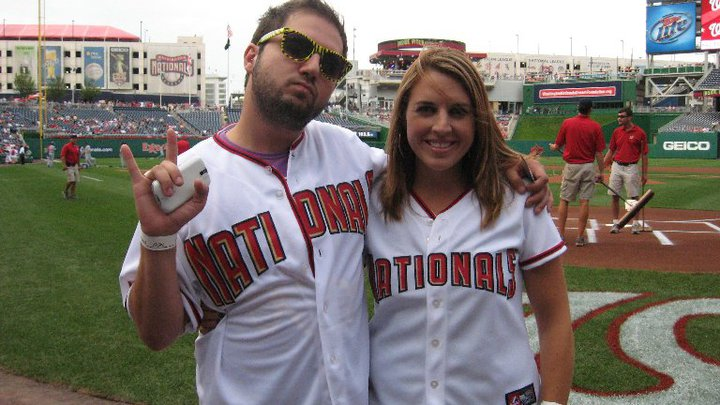Samy and me at the Nats game:)