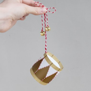 3D Paper Engineered Drum Christmas Decoration