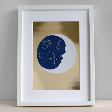 Sarah Louise Matthews Papercut Constellations Stars and Moon for Mollie Makes