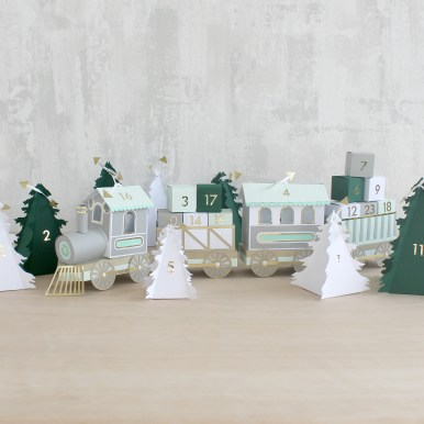 Sarah Louise Matthews 3D Paper Engineer Advent Calendar Train
